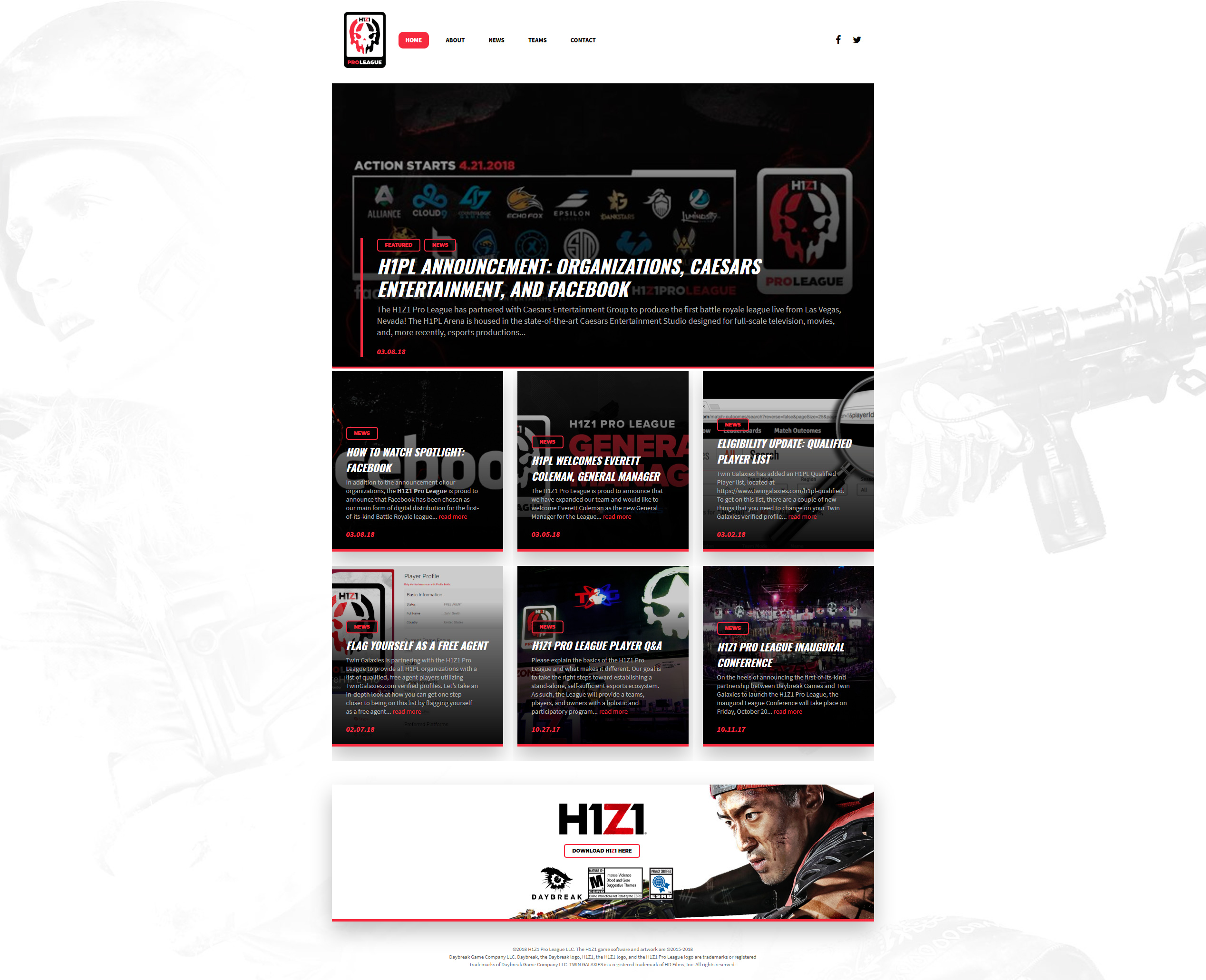 H1Z1 Pro League - First Post